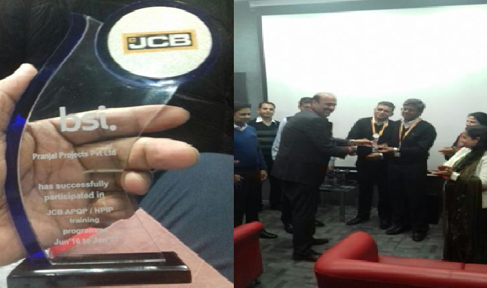 Award from JCB India